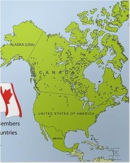 NAFTA map Poster