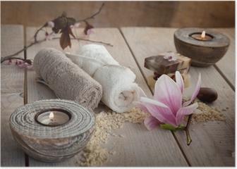 Natural spa setting Poster