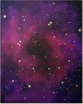 Poster Nébuleuse et la star dans le domaine spatial