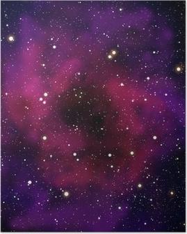 Poster Nevel en ster in de ruimte gebied