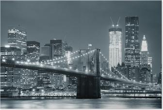 Poster New York Brooklyn Bridge