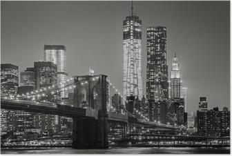 Poster New York City in de nacht