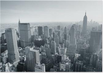 New York City skyline black and white Poster