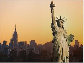 Poster New York standbeeld de la Liberte
