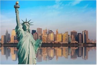 Poster New York - Statue DE libéré