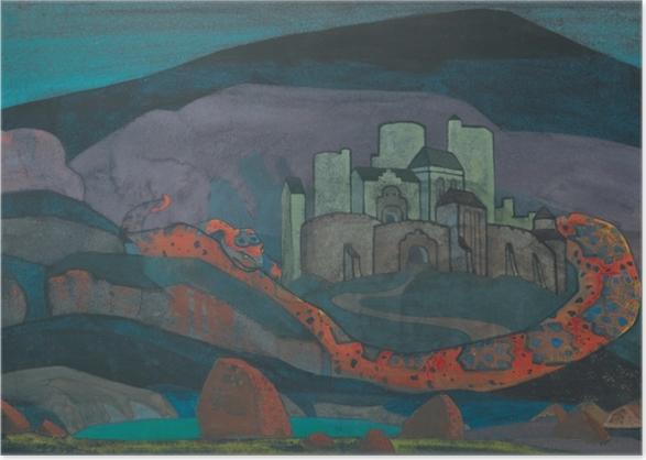 Poster Nicolas Roerich - La ville sinistrée - Nicholas Roerich