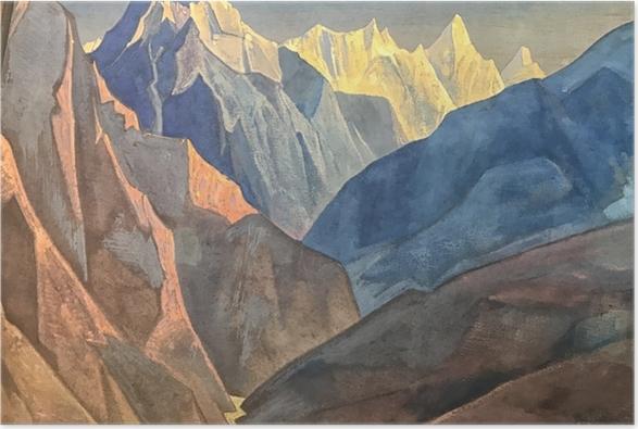 Póster Nikolái Roerich - Estudio de las montañas - Nicholas Roerich