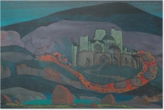 Póster Nikolái Roerich - La ciudad condenada