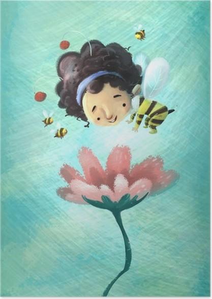 niña abeja Poster - Celebrations
