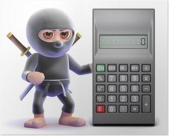 Póster Ninja está calculando