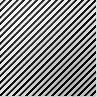 Poster Noir et blanc rayé diagonal Motif Répétez Contexte