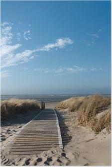 Nordsee Strand auf Langeoog Poster