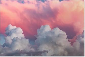 Poster Nuages au coucher du soleil
