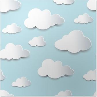 Póster Nubes inconsútiles del recorte