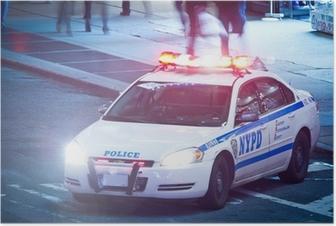 Poster NYPD Polizeiauto