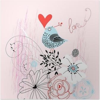 Poster Oiseau d'amour