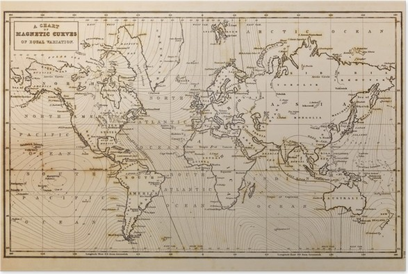 Old hand drawn vintage world map poster pixers we live to change old hand drawn vintage world map poster themes gumiabroncs Images