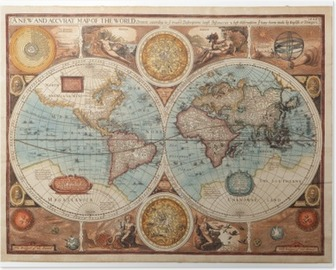 Old map (1626) Poster