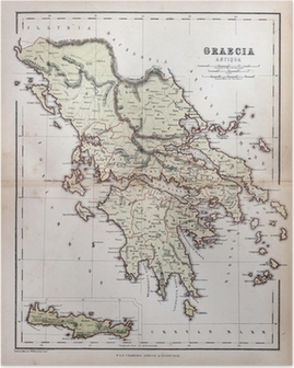 Old world map of 1879 poster pixers we live to change old map of greece 1870 poster gumiabroncs Image collections