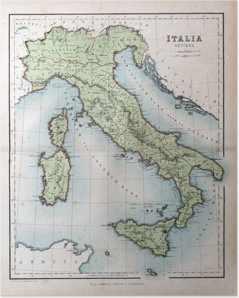 Old map of italy 1870 poster pixers we live to change old map of italy 1870 poster gumiabroncs Choice Image