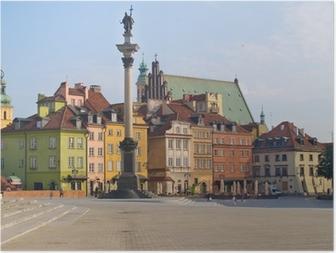 Poster Old town square, Varsovie, Pologne