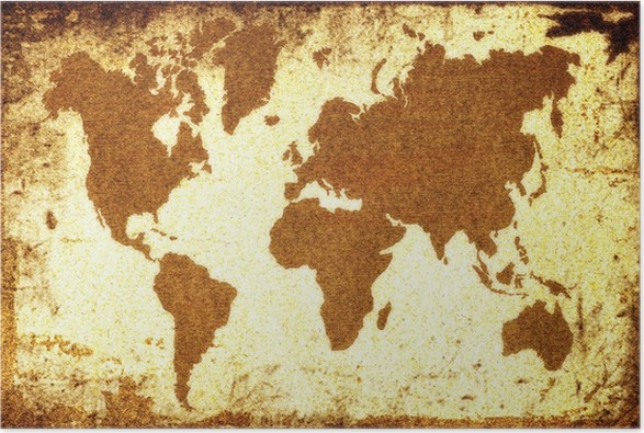 Old world map poster pixers we live to change old world map poster accesories and objects gumiabroncs Images