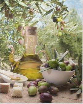 Poster Olie en olijven