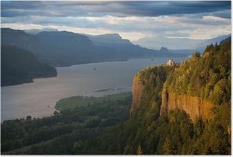 Oregon landscape - Crown Point Columbia river Poster