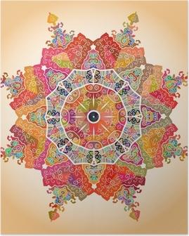 Oriental mandala motif Poster