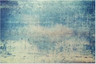 Poster Orienté horizontalement de couleur bleue grunge