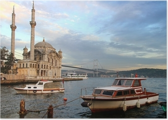 Ortakoy evening in Istanbul Poster