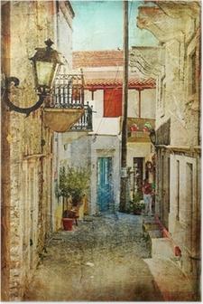 Poster Oude Griekse straten-artistieke foto