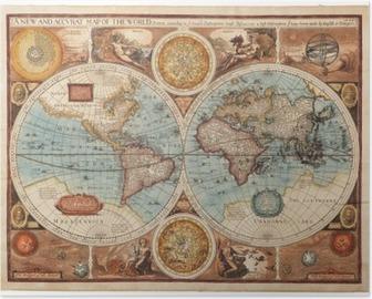 Poster Oude kaart (1626)