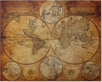 Poster Oude kaart (1746)