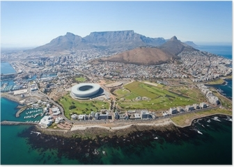 overall aerial view of Cape Town, South Africa Poster