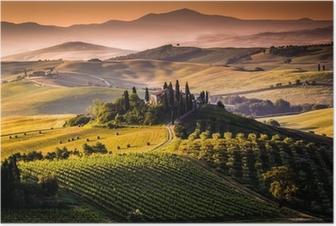 Poster Paesaggio, Toscana - Italia