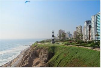 Póster Paisajes Miraflores Ciudad de Lima Perú