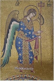 Poster Palerno - Mosaik av ärkeängeln Michael i La Martorana