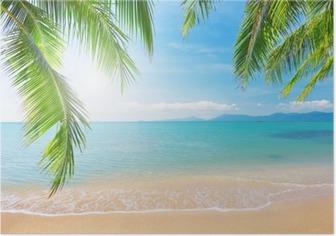 Poster Palm et plage tropicale