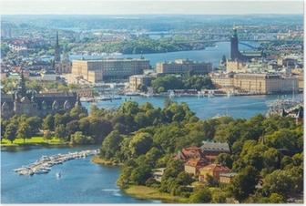 Poster Panorama aérienne de Stockholm, Suède