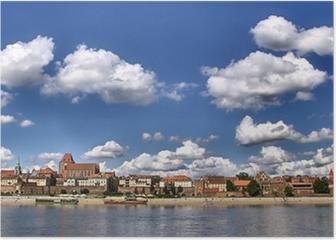 Panorama of Toruń (Poland) Poster