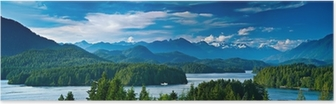 Panoramic view of Tofino, Vancouver Island, Canada Poster