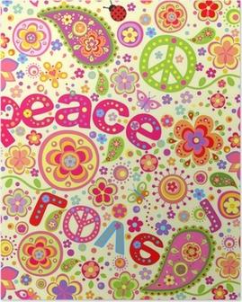 Poster Papier peint hippie
