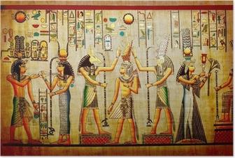 Poster Papyrus. Gamla naturlig papper från Egypten