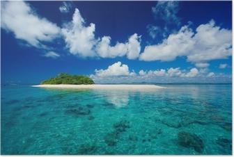 Poster Paradis tropical vacances île