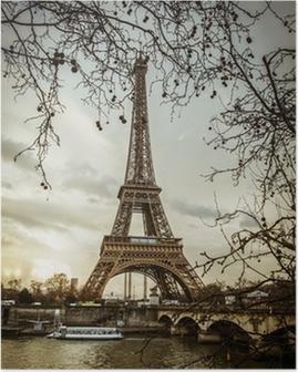 Poster Parigi Tour Eiffel Tramonto