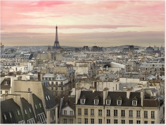 Póster París Aussicht Eiffelturm