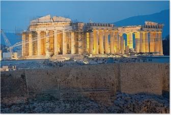 Póster Partenón en la Acrópolis de Atenas