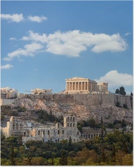 Poster Parthenon, Akropolis - Athene, Griekenland