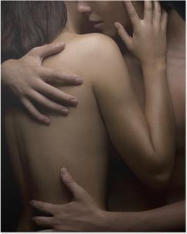 Póster Pasión sexy entre la mujer y el hombre